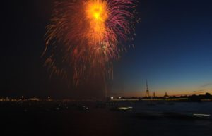 Салют в День Военно-морского флота