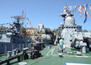 Посещение кораблей на День ВМФ