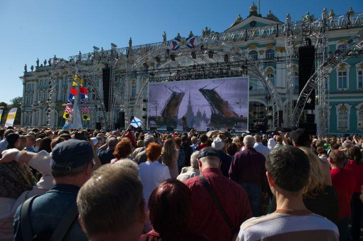 Концерт на День ВМФ в Санкт-Петербурге