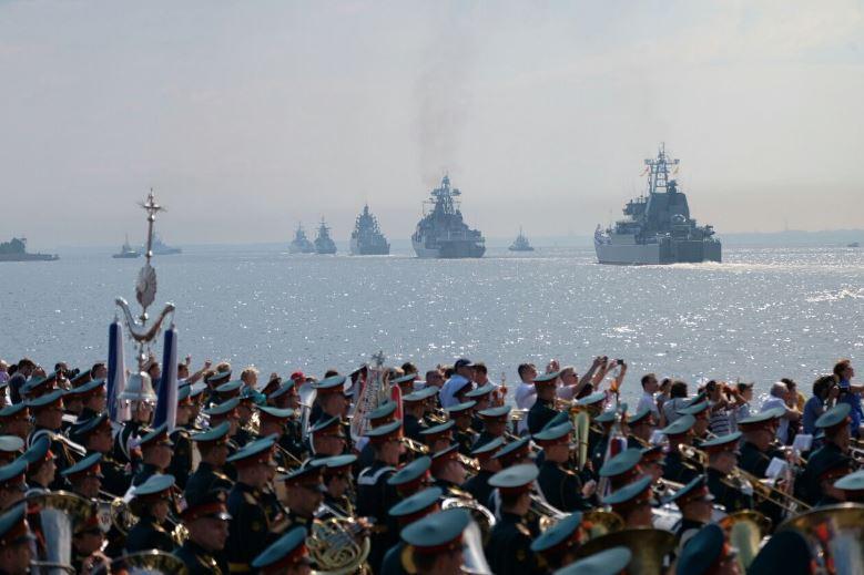Военно-морской парад в Кронштадте